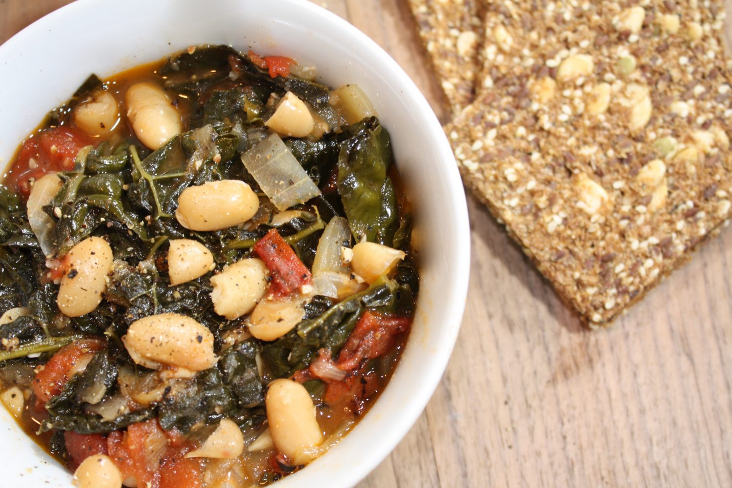 soup with kale and white bean