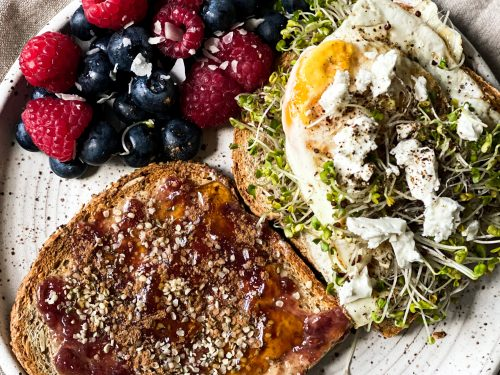 Grain and Seed Toast for Breakfast