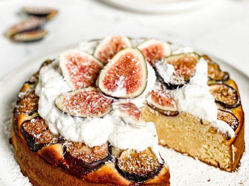 Fresh Coconut Fig Cake