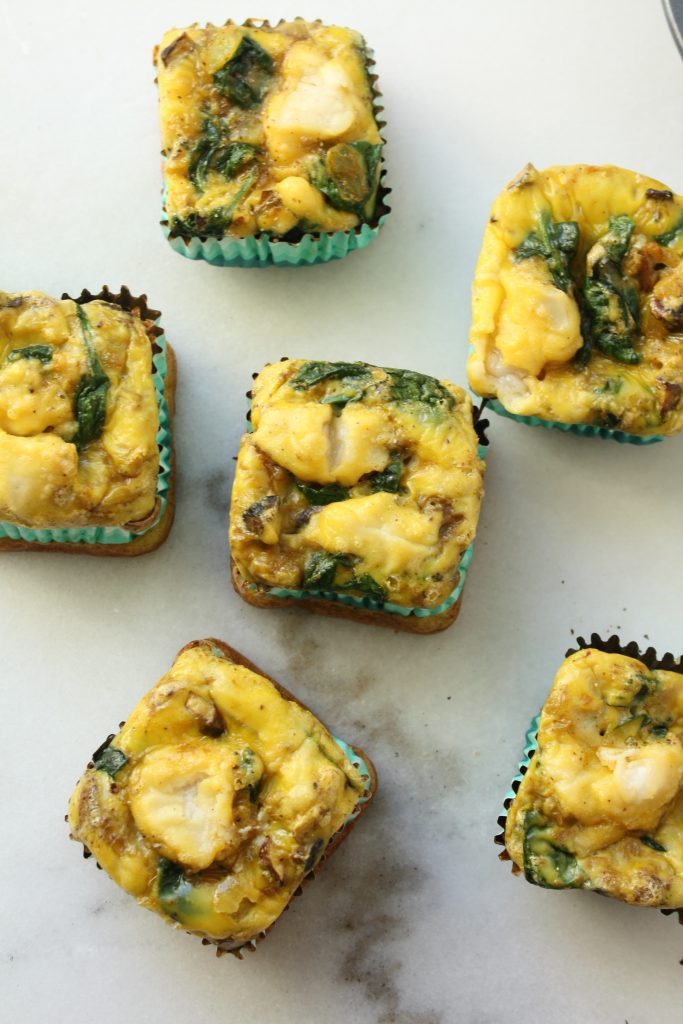 egg muffin with veggies