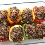 black bean and quinoa stuffed bell peppers
