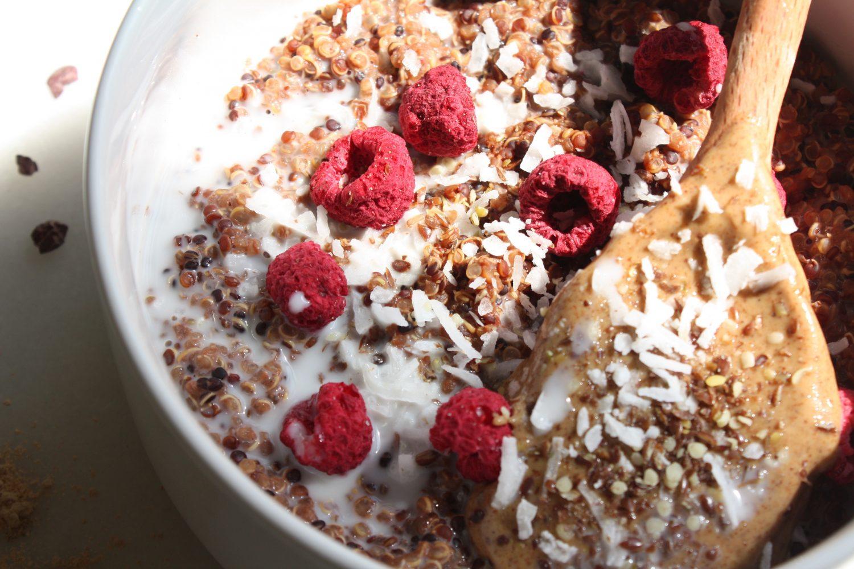 quinoa and cacao breakfast bowl