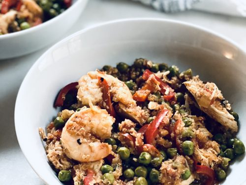One pot paella with just the good stuff