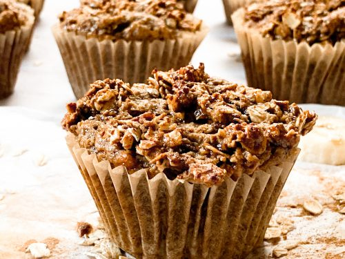 Banana Oat Muffins and a Oat Crumb Topping