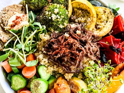 The Ultimate Salad Bowl Made with Leftovers