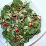 spinach quinoa avocado salad